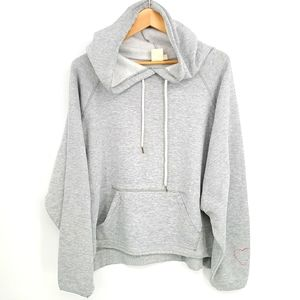 White Crow Boxy Cropped Hooded Sweatshirt